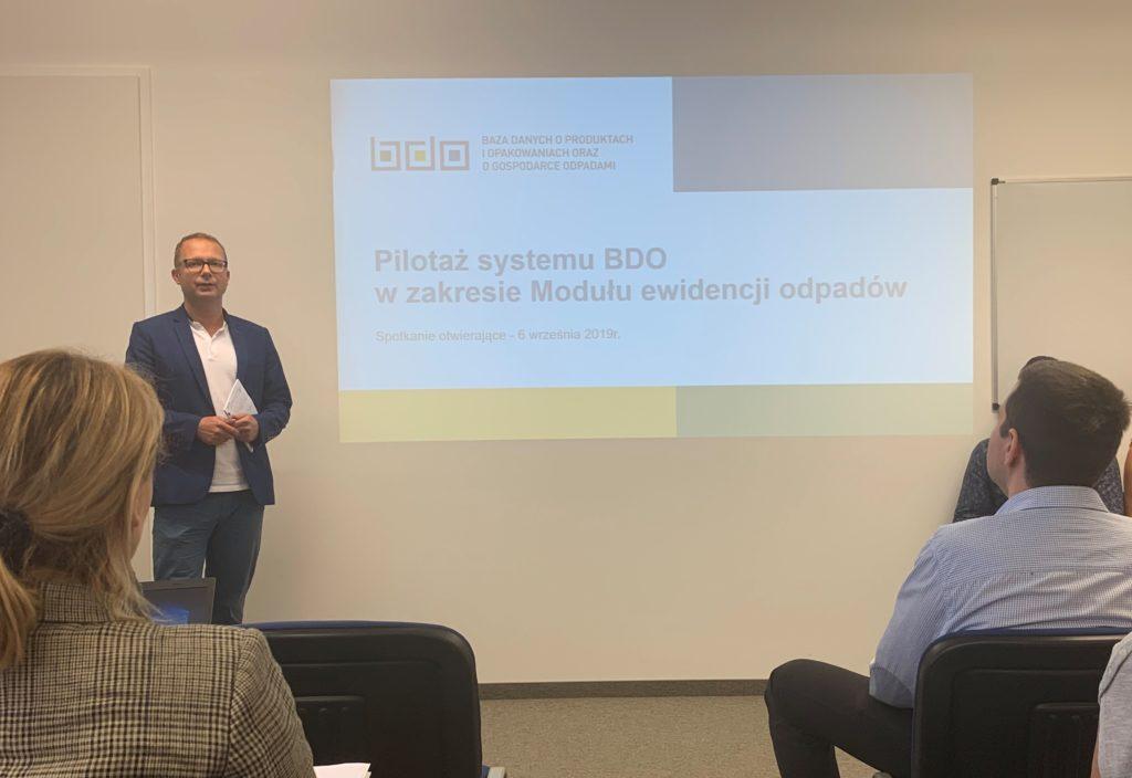 Pilotaż systemu BDO - spotkanie otwierające